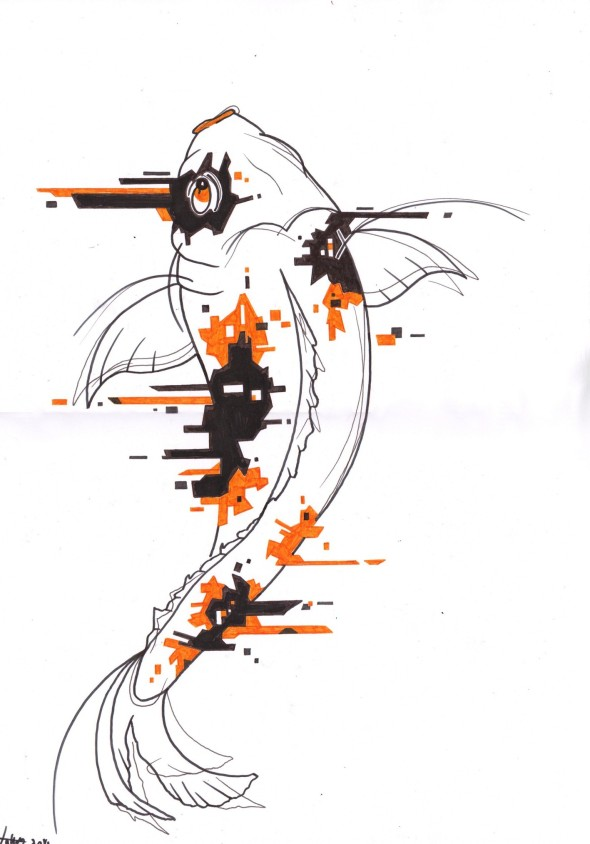 Glitch Koi (small)